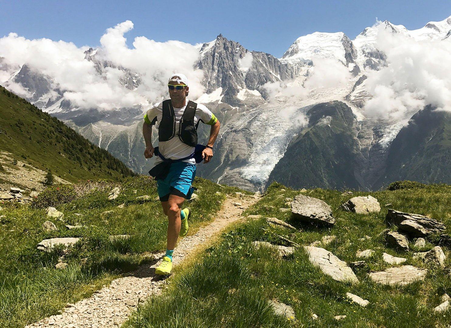 Man Running and Hiking
